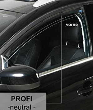 ClimAir Windabweiser PROFI vorne VW Touran Typ 1T Van 5-Türer ab 2015 schwarz