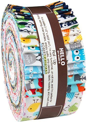 Ann Kelle Urban Zoologie Minis Roll Up 40 2.5-inch Strips Jelly Roll Robert Kaufman Fabrics RU-412-40