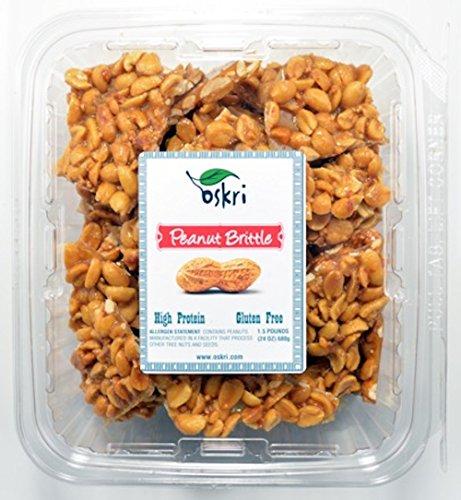 Oskri 24oz All-Natural Peanut Brittle - Gluten Free Food, Beverages ...