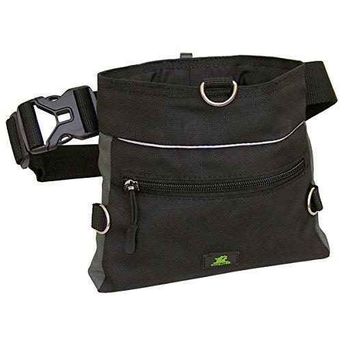 Bild von: Dogsline Futtertasche , Leckerlibeutel mit Einhand-Schnappverschluss , 20x18cm schwarz grau , DL62TB
