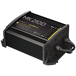 MinnKota MK 210D On-Board Battery Charger (2 Banks, 5 amps per bank) by Minn Kota