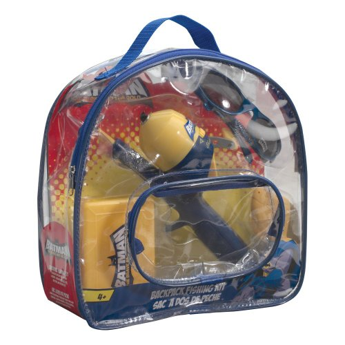 Shakespeare batman backpack kit combo fishing bait for Batman fishing pole
