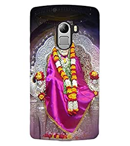 ColourCraft Lord Sai Baba Design Back Case Cover for LENOVO VIBE K4 NOTE