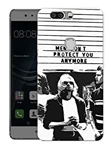 """Kurt Cobain Men Don'T Protect You AnymorePrinted Designer Mobile Back Cover For """"Huawei Honor V8"""" (3D, Matte, Premium Quality Snap On Case)"""