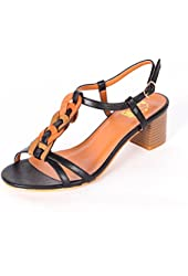 Alexis Leroy Women's Sweet Candy Color Woven Knot Middle Heeled Dress Wedge Sandals