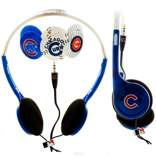 MLB Nes Group Chicago Cubs Over The Head Headphones With Detachable Graphic Discs at Amazon.com