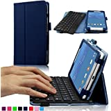 Infiland Samsung Galaxy Tab 4 7.0 SM-T230NU Tablet Bluetooth Keyboard Case Cover - Folio Slim Fit PU Leather Case...
