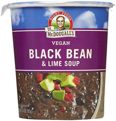 Dr. McDougall's Black Bean & Lime Big Soup Cup - 3.4 oz - 6 pk