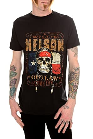 Willie Nelson Outlaw Country T-Shirt Size : Medium