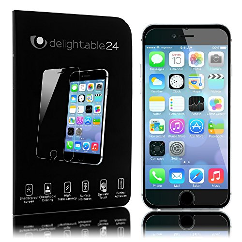 delightable24 Pellicola Protettiva Vetro Temprato Glass Screen Protector Smartphone APPLE IPHONE 6 / 6S - Transparente