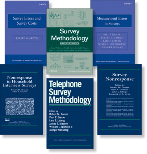 The Collected Works of Robert M. Groves, 6 Book Set (Wiley Series in Survey Methodology), by Robert M. Groves