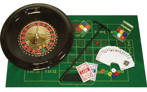Best Deals! Trademark Poker 16-Inch Deluxe Roulette Set with Accessories