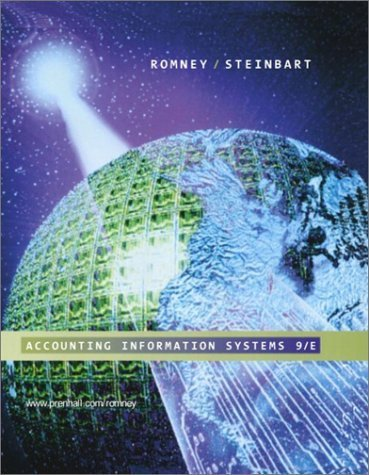 Accounting Information Systems 9th edition by Romney, Marshall B.; Steinbart, Paul John published by Prentice Hall Hardcover