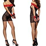 Zon-e Womens Strapless Sexy Lace Babydoll Lingerie + G-string + Handcuff