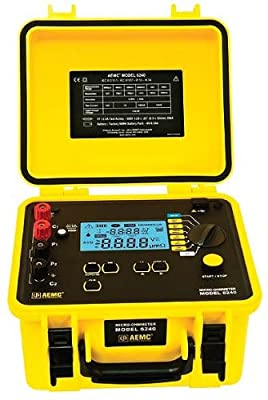 AEMC 6240 Micro-Ohmmeter (10A, Instantaneous, Continuous, Multiple Test) (#2129.80)