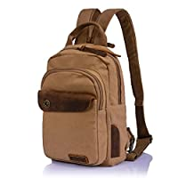 Aibag Leisure Single Shoulder Bag Mini Backpack Messenger Chest Bag for Men and Women