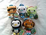 Octonauts Lot of 5 Plush Soft Toys Barnacles , Tweak , Peso , Kwazii & Dashi 5.5 Inch High