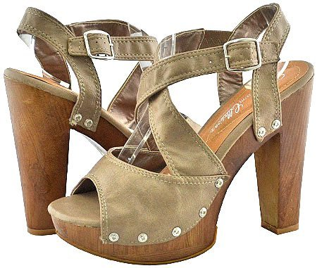 Blossom Parras-4 Nude Women Platform Sandals, 9
