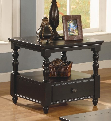Cheap Forest Glenn Antique Black End Table (B00489PFZO)