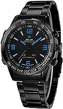 Comprar Alienwork DualTime Reloj Digital- Analógico Multi-función LED Acero inoxidable negro negro OS.WH-1009-B-5
