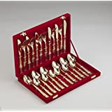 Pure Gold Plated 24pc Cutlery Set-Galaxy