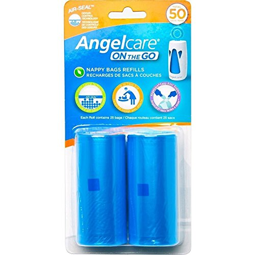 angelcare-on-the-go-travel-nappy-bag-refill-pack-odur-control-easy-knot-ac1310-blue-2x4x8-inches