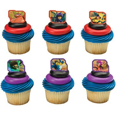 Disney Big Hero 6 Super Heroes Cupcake Rings - 24 pcs