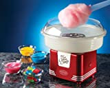 Nostalgia PCM405RETRORED Retro Series Hard & Sugar Free Candy Cotton Candy Maker with Flossing Cones