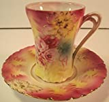 RS Prussia, Antique Chocolate Sipping Cup with Saucer, 1905