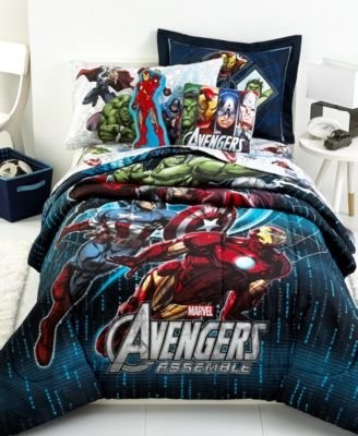 Marvel Avengers Assemble Full Size Comforter And Shams Set