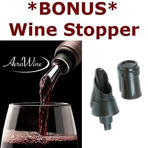AeraWine Infusion Spirit and Wine Aerator with *BONUSWine Pourer Stopper by AeraWine