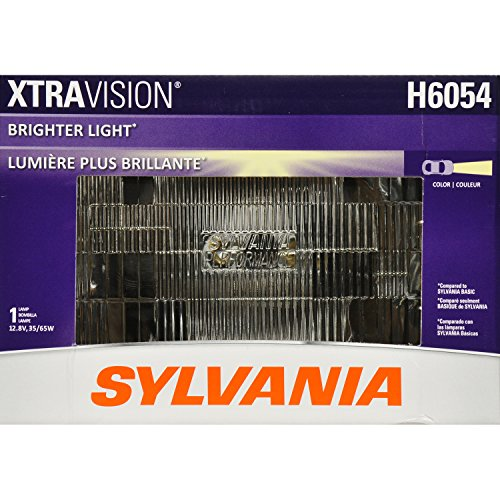 SYLVANIA H6054 XtraVision Halogen Sealed Beam Headlight 142x200, (Contains 1 Bulb) (1988 Honda Accord Headlight Bulb compare prices)