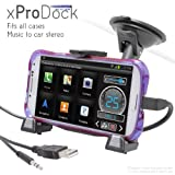 iBOLT xProDock Active Car Dock/Holder/Mount for Samsung Galaxy S3, S4, Note 2 & Note 3 with aux-out to car-speakers. Works with ALL Cases and extended Batteries.