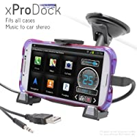 iBOLT xProDock Active Car Dock/Holder/Mount for Samsung Galaxy S3, S4, S5, Note 2 & Note 3 with aux-out to car-speakers. Works with ALL Cases and extended Batteries.