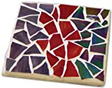 Jennifers Mosaics Stained Glass Mosaic Coaster Kit, Makes 4 Coasters