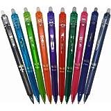 Pilot FriXion ball Frappez Retractable Gel Ink Pen - 0,5 mm - 10 Jeu de couleurs