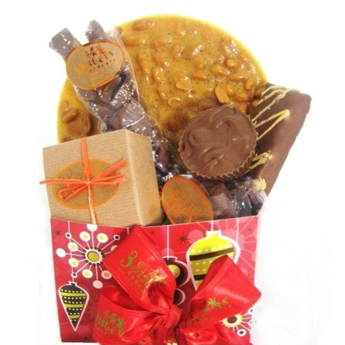Chocolate and Peanut Butter Christmas Gift Basket
