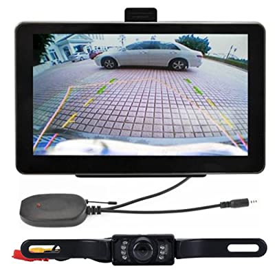 "Zixia 7"" 4GB Car GPS Navigation + Wireless Rear view Camera Bluetooth AV-IN Free Map"