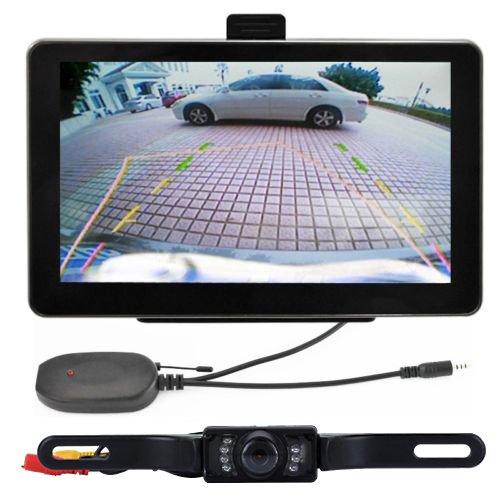 "Zixia 7"" 4GB Car GPS Navigation + Wireless Rear view Camera Bluetooth AV-IN Free Map"