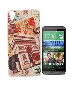 Exclusive Printed Soft Silicon Back Case Cover For HTC Desire 820 Dual Sim - Flower Gate