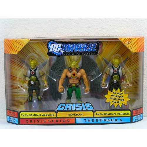 Buy Low Price Mattel DC Universe Infinite Heroes Crisis Series pack of 3 figures #6 – Hawkman and 2 Thanagarian Warriors (B004H3SIRS)