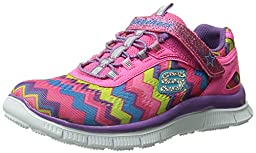 Skechers Kids Skech Appeal Align Strap Sneaker (Little Kid/Big Kid),Pink Rainbow,12 M US Little Kid