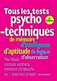 Tous les tests psychotechniques 3e édition