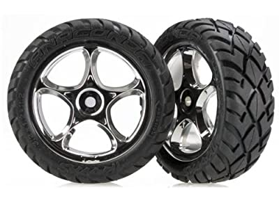 Traxxas 2479R Mounted Anaconda Tires on Tracer Front Wheels, Bandit