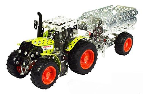 Tronico-10011-Metallbaukasten-Traktor-Claas-Arion-430-mit-Anhnger-Mastab-132