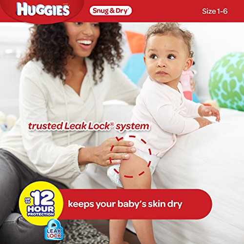 Huggies Snug and Dry Diapers Size 6 Economy Plus Pack 140 ...