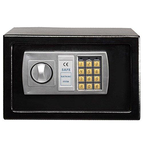"Winixson 12.5"" Electronic Digital Lock Keypad Safe Box Cash Jewelry Gun Safe Black New"