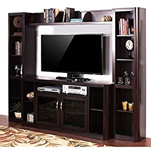 sunny designs monterey entertainment wall unit with 65 inch tv console 3532mt. Black Bedroom Furniture Sets. Home Design Ideas