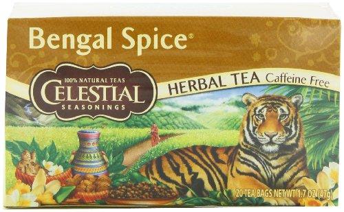 Celestial Seasonings Herb Tea, Bengal Spice, 20-Count Tea Bags (Pack of 6)