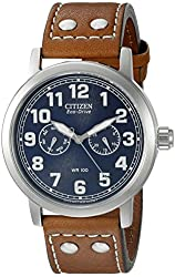 Citizen Men's AO9030-05L Avion Analog Display Japanese Quartz Brown Watch